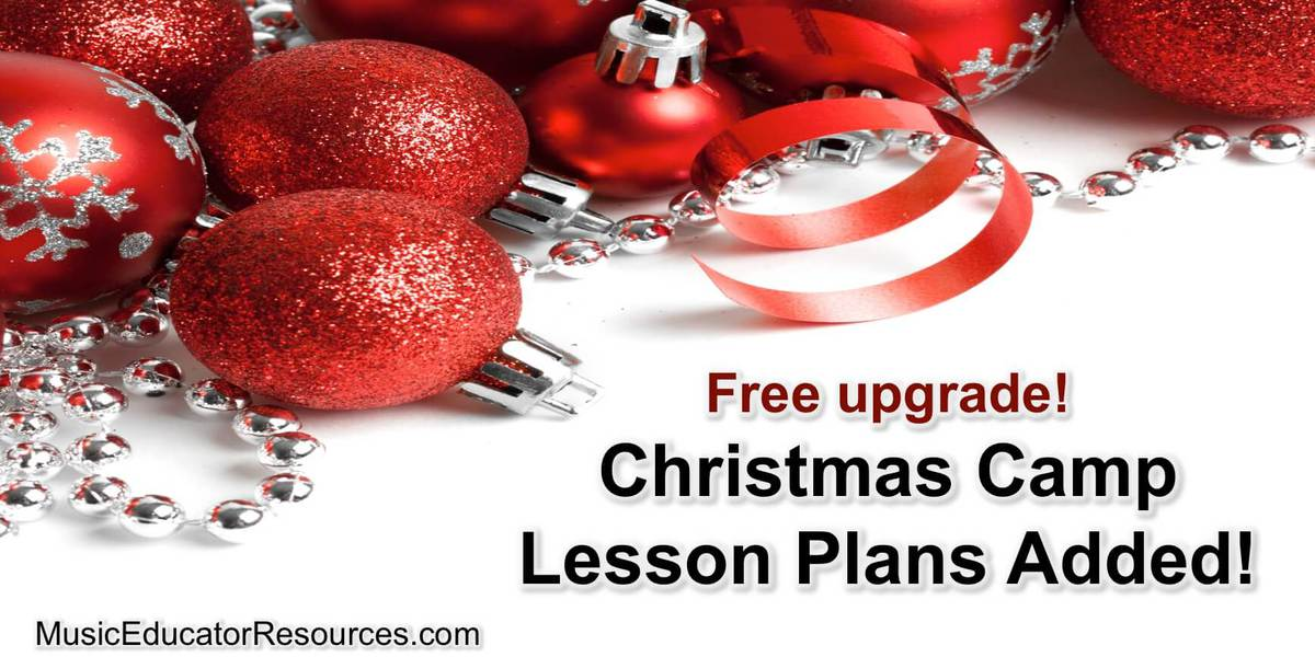 Christmas Camp Lesson Plans Added!