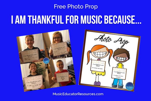 Thankful for Music Because…