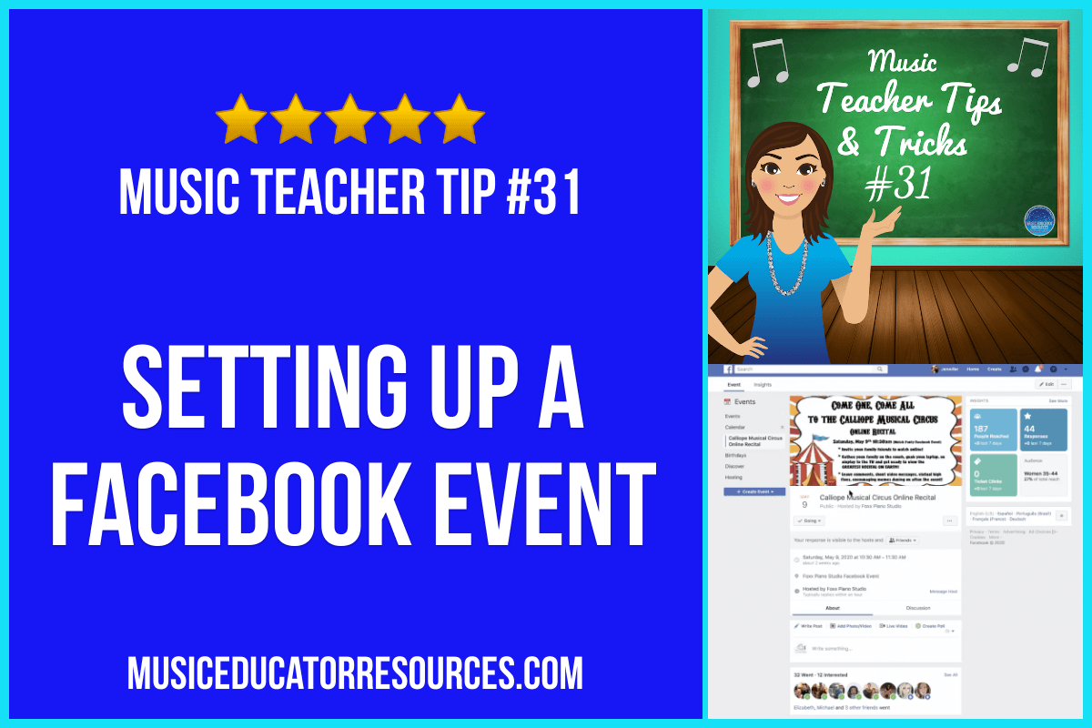 Setting Up a Facebook Event (Music Teacher Tip #31)