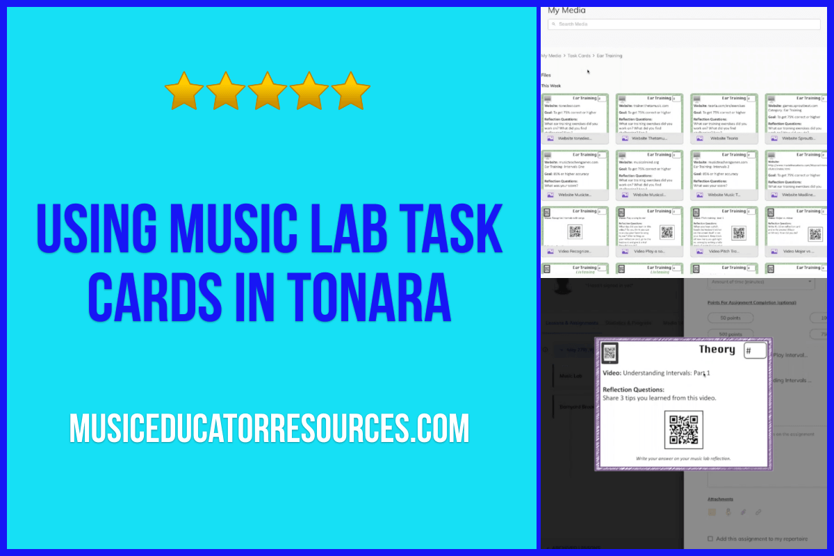 Using Music Lab Task Cards in Tonara